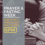 Prayer and Fasting Week at newDAY Church Edenvale October 2020