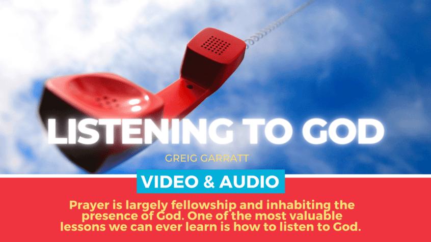 Prayer - Listening to God - newDAY Church Edenvale